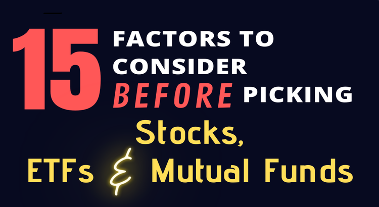 15 factors to consider before picking stocks